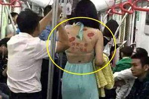 Cô gái cho thuê lưng trần để quảng cáo gây xôn xao