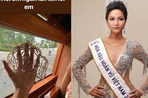 H'hen Niê 'rớt tim' vì làm gẫy vương miện Hoa hậu