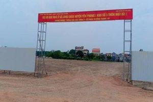 Bắc Ninh: Cẩn trọng trước lời mời chào mua đất tại Dự án Khu nhà ở số 3 Long Châu