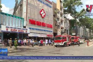 Cháy ký túc xá sát Bệnh viện chấn thương chỉnh hình TP.HCM