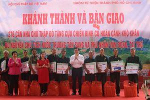 Trao tặng 276 căn nhà Chữ thập đỏ cho cựu chiến binh tỉnh Hà Giang
