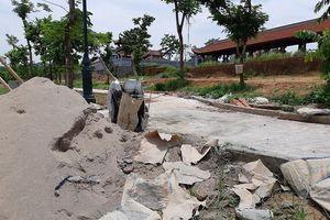 Văn Miếu Vĩnh Phúc thành đại công trường sửa chữa sau 2 năm sử dụng