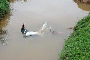 Tá hỏa người đàn ông tử vong, cạnh xe máy dưới mương nước