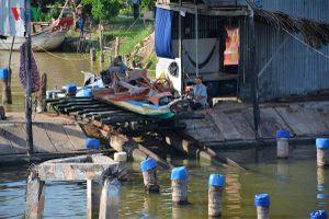 Độc đáo 'cầu kéo' phương tiện đường thủy nơi Đất Mũi – Cà Mau