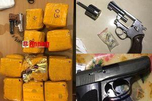 Đánh sập đường dây ma túy liên tỉnh, thu 5 khẩu súng và 20 kg ma túy đá