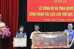 Hà Nội công nhận 554 đạo sắc phong là tài liệu lưu trữ quý, hiếm