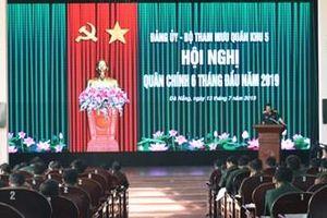 Bộ Tham mưu Quân khu 5 tổ chức Hội nghị quân chính 6 tháng đầu năm 2019