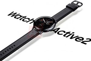 Galaxy Watch Active 2 lộ diện chính thức: vòng xoay viền đỏ, đo điện tâm đồ ECG