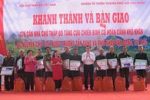Trao tặng 276 căn nhà chữ thập đỏ cho các cựu chiến binh có hoàn cảnh khó khăn ở Hà Giang