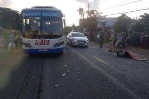 Xe buýt tông xe máy, một người đàn ông tử vong