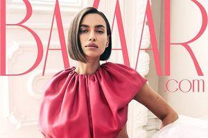 'Chân dài' Irina Shayk quyến rũ với tông hồng trên bìa tạp chí