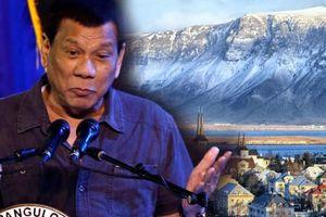 TT Duterte nói Iceland không có tội phạm vì người dân 'mải ăn băng'