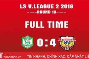 Hồng Lĩnh Hà Tĩnh đánh bại XSKT Cần Thơ 4 - 0