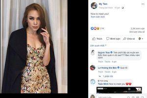 Bị antifan bình luận ác ý về việc sử dụng tiếng Anh khi đăng ảnh facebook và cách đáp trả chuẩn 'Chị Đại' của Mỹ Tâm