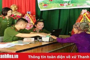 Công an huyện Vĩnh Lộc cấp căn cước lưu động cho công dân