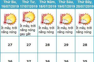 Nắng nóng ở Hà Nội và các tỉnh Trung Bộ sẽ kéo dài đến hết tuần