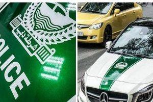 Xe ô tô bị từ chối đăng kiểm vì chủ xe tự ý dán tem cảnh sát