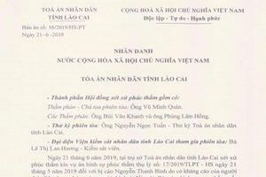 Hủy Bản án sơ thẩm số 28/2019/HSST