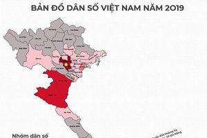 Thứ hạng dân số 63 tỉnh thành mới nhất