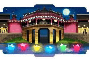 Ngỡ ngàng với vẻ đẹp chùa Cầu lần đầu tiên xuất hiện trên Google Doodles