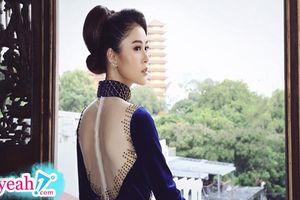 Á hậu Lý Kim Thảo diện áo dài nhung trong BST 'Thoáng hương xưa' của NTK Tommy Nguyễn