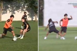 'Messi Nhật Bản' khiến dàn sao Real Madrid lác mắt trên sân tập