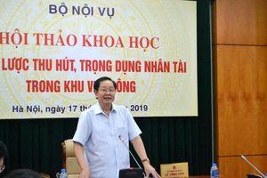 Tháng 10, trình Thủ tướng dự thảo Đề án 'Chiến lược quốc gia thu hút, trọng dụng nhân tài'