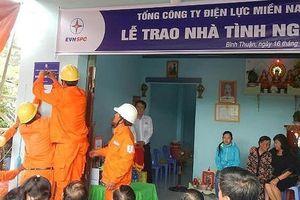 Điện lực miền Nam hỗ trợ xây dựng nhiều căn nhà cho gia đình chính sách ở Bình Thuận
