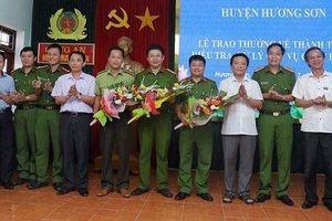 Khen thưởng các đơn vị trong điều tra xử lý cháy rừng ở Hà Tĩnh
