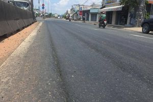 Khắc phục hằn lún QL1 qua Bình Thuận trong tháng 8/2019
