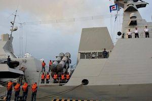Hộ vệ hạm HQ-016 Quang Trung của Việt Nam khởi hành đến Nga