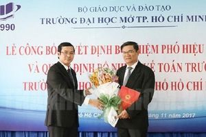 Đại học Mở TP.HCM có tân hiệu trưởng sau 2 năm bị khuyết