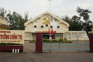 Phó hiệu trưởng Trường chính trị Bình Thuận Lê Trung Quân bị kỷ luật Đảng