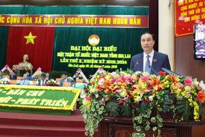 Ông Hồ Văn Điềm tái cử Chủ tịch Mặt trận tỉnh Gia Lai lần thứ X