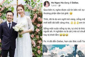 Hà Hồ xóa status vì bị suy diễn 'đá xoáy' Cường Đô La và Đàm Thu Trang