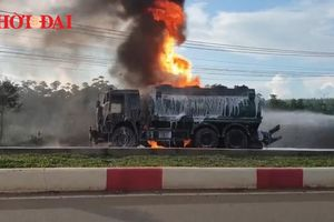 Toàn cảnh vụ xe bồn bốc cháy khiến 2 người chết ở Bà Rịa - Vũng Tàu