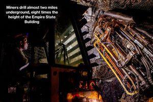 Cảnh săn vàng trong mỏ khổng lồ dưới lòng đất