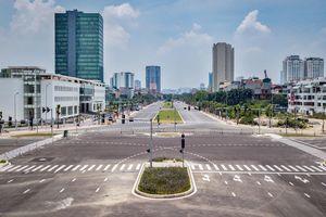 Toàn cảnh tuyến đường 8 làn nối 3 quận sắp thông xe ở Hà Nội