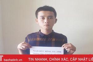 Tóm gọn đối tượng đột nhập phòng trọ ở TP Hà Tĩnh 'cuỗm' điện thoại