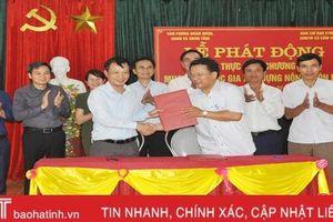 Văn phòng Đoàn ĐBQH, HĐND, UBND HàTĩnh đỡ đầu Cẩm Thịnh xây dựng NTM
