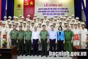 Bắc Ninh: Điều động hơn 200 công an chính quy về đảm nhiệm chức danh Công an xã