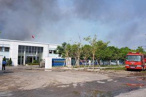 Cháy lớn ở Công ty TNHH May Makalot Hải Dương