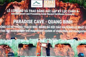 Động Thiên Đường được xác lập kỷ lục mới của châu Á