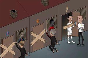 Biếm họa 24h: Real phũ phàng với Bale, MU 'nhuộm đỏ' Harry Maguire