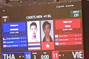 Trịnh Minh Nam giành Huy chương vàng taekwondo thiếu niên châu Á