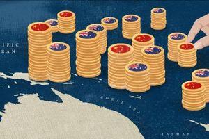 Úc hốt hoảng khi Trung Quốc rải tiền khắp Thái Bình Dương