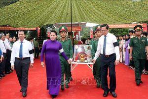 Chủ tịch Quốc hội dự Lễ truy điệu và an táng hài cốt các liệt sĩ tại Tây Ninh
