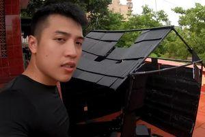Vlogger Nguyễn Thành Nam xây nhà bằng ống hút và cốc nhựa: 'Không thể sống vừa lòng thiên hạ, cứ kiếm nhiều tiền là được'