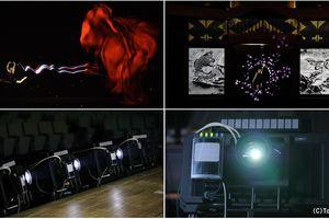 Công nghệ trình chiếu 'real-time tracking' kết hợp 'projection mapping' của Panasonic gây ấn tượng mạnh tại Lễ phát động 'One Year to Go' tiến tới Thế vận hội Tokyo 2020