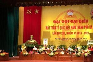 Khai mạc Đại hội Mặt trận Tổ quốc Việt Nam TP Hà Nội lần thứ XVII